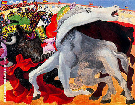 Reproduction of Bullfight Death of the Toreador 1933 by Pablo Picasso | Oil Painting Replica On CanvasReproduction Gallery
