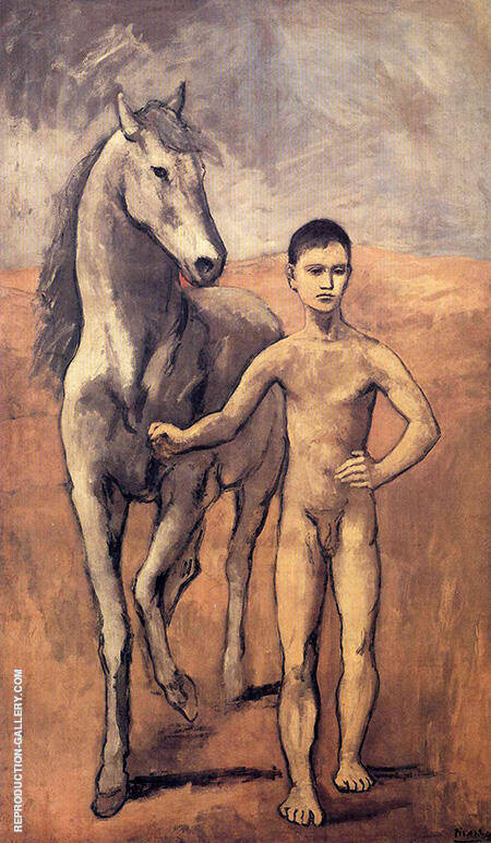 Boy Leading a Horse 1906 By Pablo Picasso - Oil Paintings & Art Reproductions - Reproduction Gallery