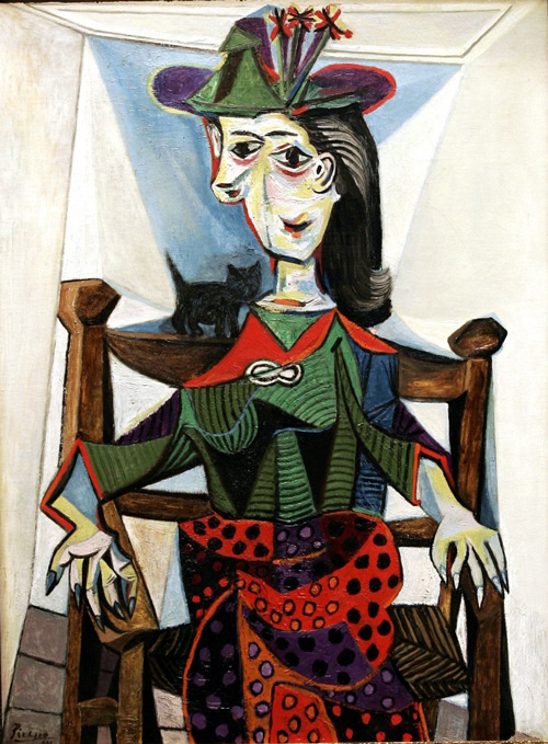 Reproduction of Dora Maar au Chat 1941 by Pablo Picasso | Oil Painting Replica On CanvasReproduction Gallery