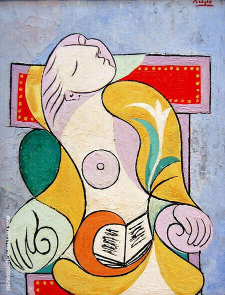 La Lecture 1932 By Pablo Picasso - Oil Paintings & Art Reproductions - Reproduction Gallery