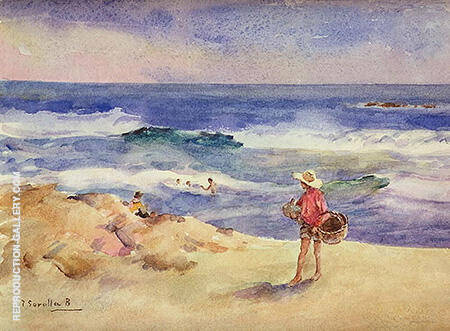 Boy on the Sand By Joaquin Sorolla - Oil Paintings & Art Reproductions - Reproduction Gallery