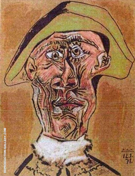 Harlequin Head 1971 By Pablo Picasso - Oil Paintings & Art Reproductions - Reproduction Gallery