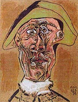 Harlequin Head 1971 By Pablo Picasso