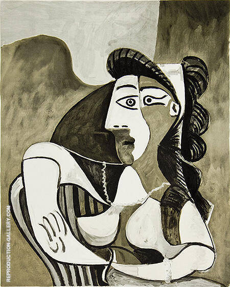 Femme Acoudee au Fauteuil By Pablo Picasso - Oil Paintings & Art Reproductions - Reproduction Gallery