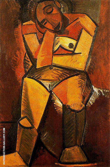 Seated Woman 1908 By Pablo Picasso - Oil Paintings & Art Reproductions - Reproduction Gallery