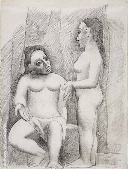 Seated and Standing Nude By Pablo Picasso