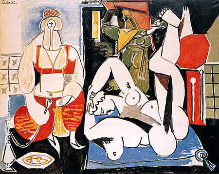 Women of Algiers I 1955 By Pablo Picasso - Oil Paintings & Art Reproductions - Reproduction Gallery