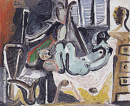 Painter and his Model 1968 By Pablo Picasso - Oil Paintings & Art Reproductions - Reproduction Gallery