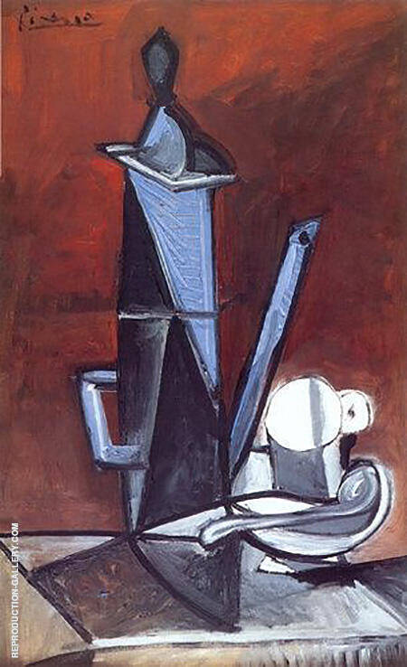 The Blue Coffee Pot 1944 By Pablo Picasso - Oil Paintings & Art Reproductions - Reproduction Gallery