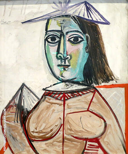 Woman with Black Eyes 1941 By Pablo Picasso - Oil Paintings & Art Reproductions - Reproduction Gallery