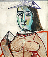Woman with Black Eyes 1941 By Pablo Picasso