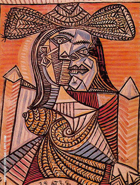 Seated Woman 1938 By Pablo Picasso - Oil Paintings & Art Reproductions - Reproduction Gallery