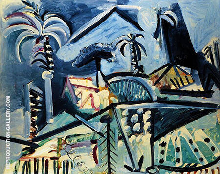 Landscape 1972 By Pablo Picasso - Oil Paintings & Art Reproductions - Reproduction Gallery