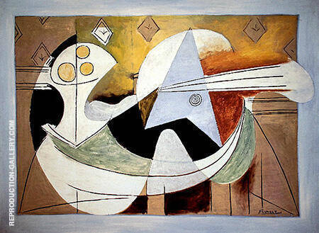 Fruit Bowl and Guitar 1927 By Pablo Picasso - Oil Paintings & Art Reproductions - Reproduction Gallery