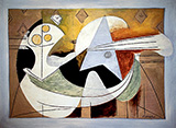 Fruit Bowl and Guitar 1927 By Pablo Picasso