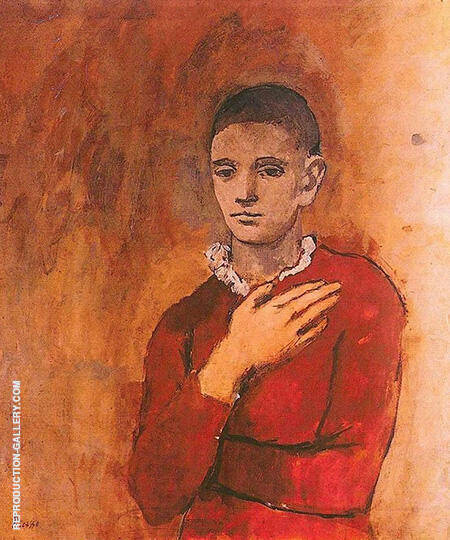 Boy with a Frilled Collar 1905 By Pablo Picasso - Oil Paintings & Art Reproductions - Reproduction Gallery
