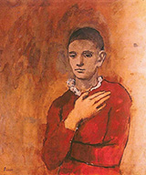 Boy with a Frilled Collar 1905 By Pablo Picasso