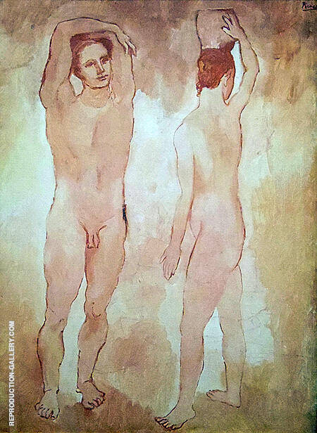 Adolescents 1906 By Pablo Picasso - Oil Paintings & Art Reproductions - Reproduction Gallery