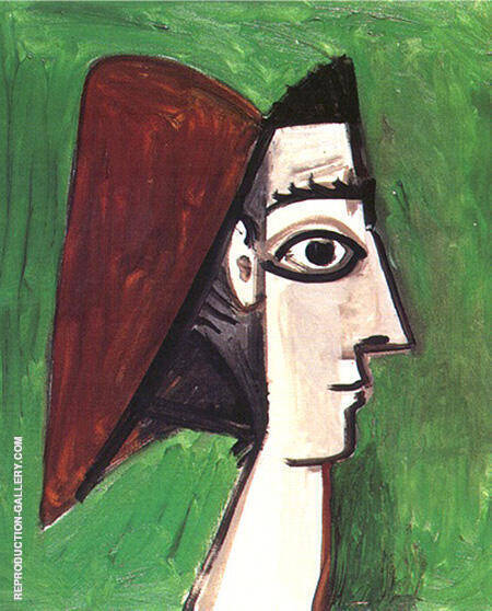 Profile of a Womans Face 1960 By Pablo Picasso - Oil Paintings & Art Reproductions - Reproduction Gallery