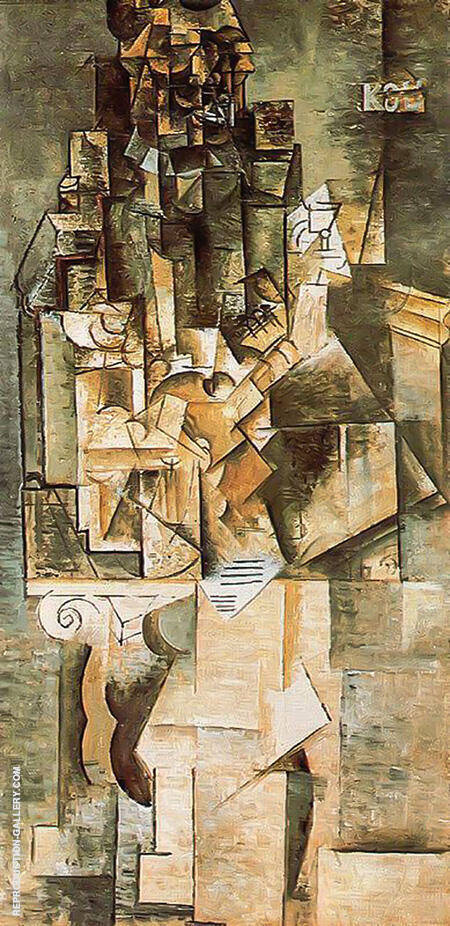 Man with a guitar 1911 by pablo picasso oil paintings for Picasso painting names