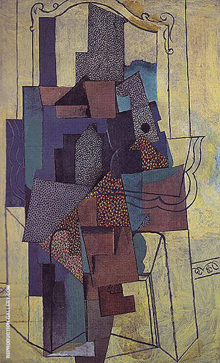 Man Before a Fireplace 1916 By Pablo Picasso - Oil Paintings & Art Reproductions - Reproduction Gallery