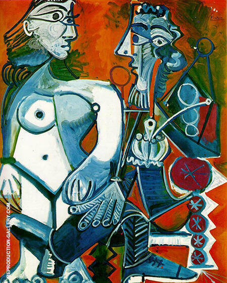 Nude and Smoker 1968 By Pablo Picasso