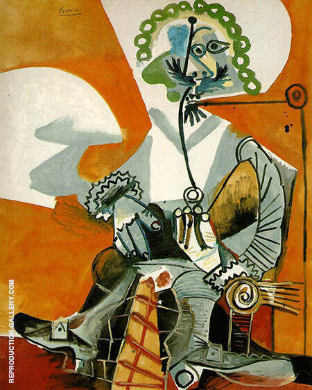 Musketeer with Pipe 1968 By Pablo Picasso - Oil Paintings & Art Reproductions - Reproduction Gallery