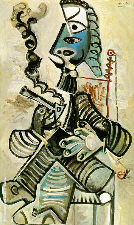The Smoker 1968 By Pablo Picasso - Oil Paintings & Art Reproductions - Reproduction Gallery