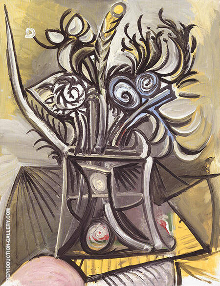 Vase of Flowers on a Table 1969 By Pablo Picasso