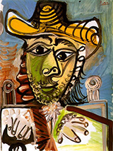 Man in an Armchair 1965 By Pablo Picasso