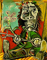 Seated Man with Sword and Flower 1969 By Pablo Picasso