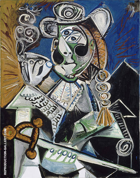 Cavalier with Pipe The Matador 1970 By Pablo Picasso - Oil Paintings & Art Reproductions - Reproduction Gallery