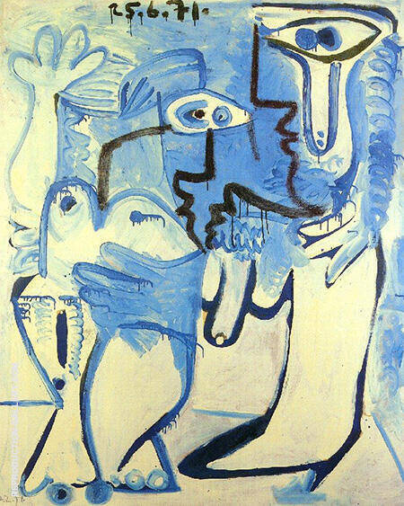 Couple 1970 By Pablo Picasso