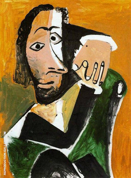 Seated man 1971 by pablo picasso oil paintings art for Picasso painting names
