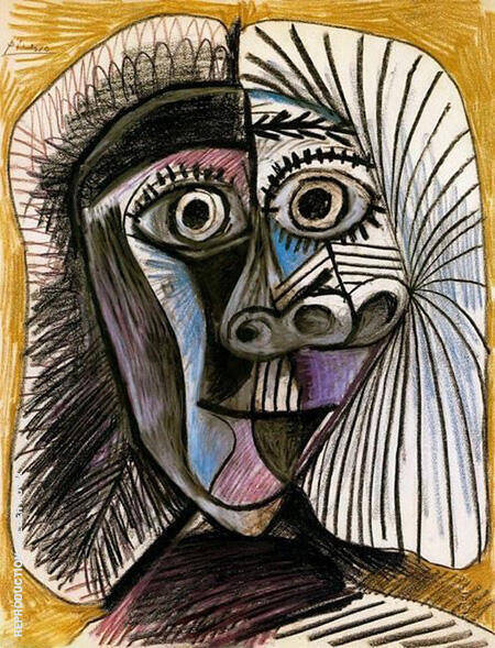 Head 1972 By Pablo Picasso - Oil Paintings & Art Reproductions - Reproduction Gallery