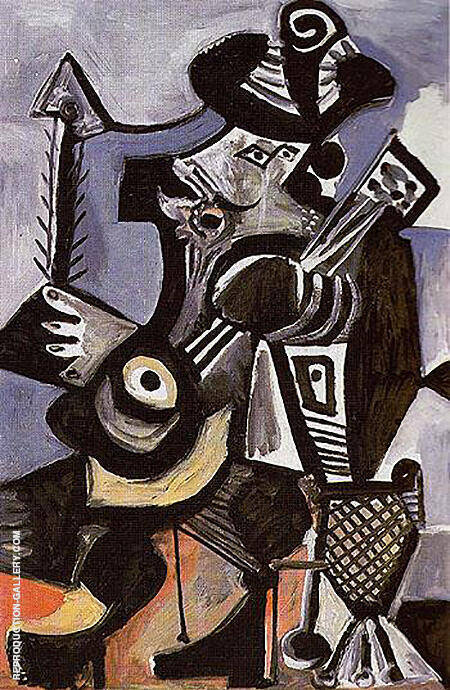 Musician with Guitar 1972 By Pablo Picasso
