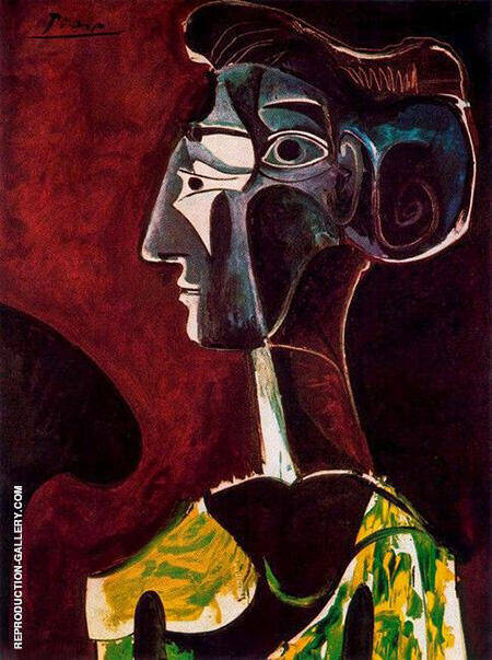 Great Profile 1963 By Pablo Picasso - Oil Paintings & Art Reproductions - Reproduction Gallery