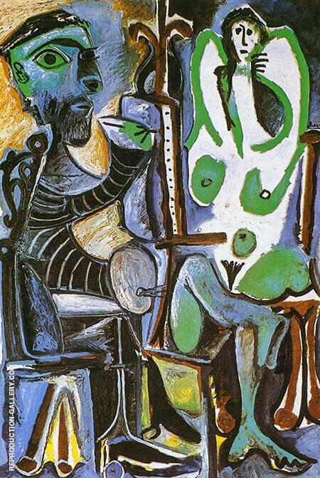 The Artist and His Model 1963 By Pablo Picasso - Oil Paintings & Art Reproductions - Reproduction Gallery