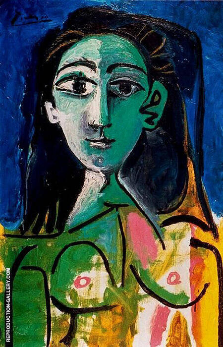Portrait of Jacqueline 1963 By Pablo Picasso - Oil Paintings & Art Reproductions - Reproduction Gallery