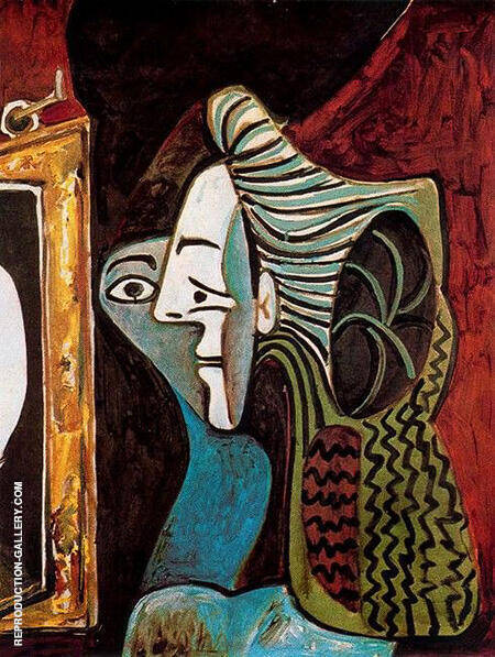 Woman with Mirror 1963 By Pablo Picasso - Oil Paintings & Art Reproductions - Reproduction Gallery