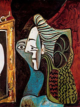 Woman with Mirror 1963 By Pablo Picasso