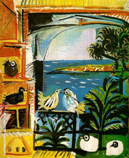 The Pigeons 1957 By Pablo Picasso - Oil Paintings & Art Reproductions - Reproduction Gallery