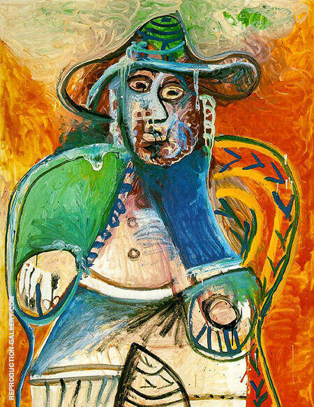 Seated Old Man 1970 By Pablo Picasso - Oil Paintings & Art Reproductions - Reproduction Gallery