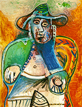 Seated Old Man 1970 By Pablo Picasso