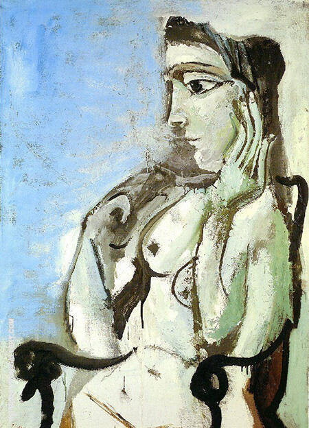 Nude in an Armchair 1964 By Pablo Picasso - Oil Paintings & Art Reproductions - Reproduction Gallery