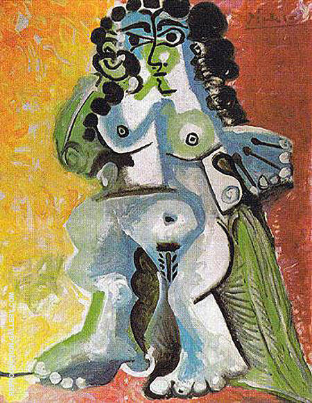 Seated Nude 1965 By Pablo Picasso - Oil Paintings & Art Reproductions - Reproduction Gallery