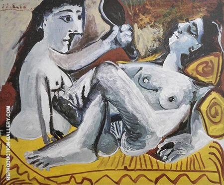 The Two Friends 1965 By Pablo Picasso - Oil Paintings & Art Reproductions - Reproduction Gallery
