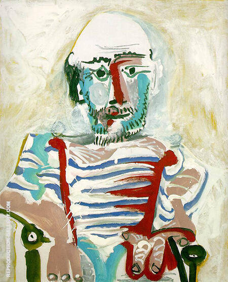 Seated Man Self Portrait 1965 By Pablo Picasso