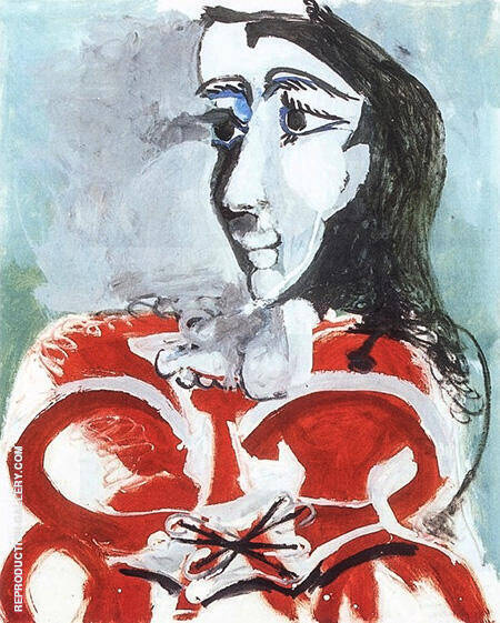 Portrait of Jacqueline 1965 By Pablo Picasso