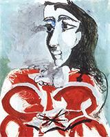 Portrait of Jacqueline 1965 By Pablo Picasso